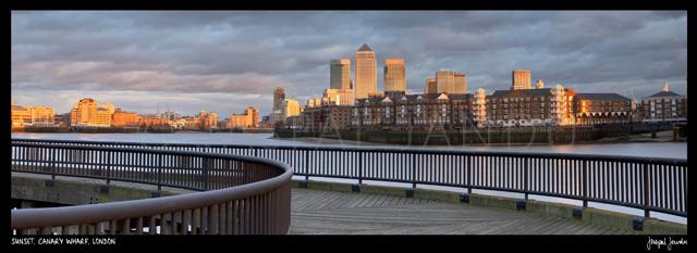 Sunset, Canary Wharf, London