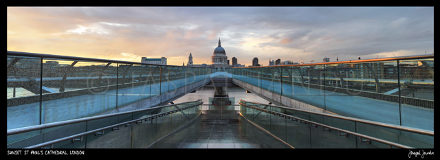 Sunset, St Paul's Cathedral, London