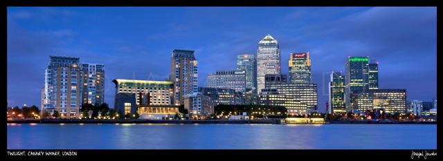 Twilight, Canary Wharf, London