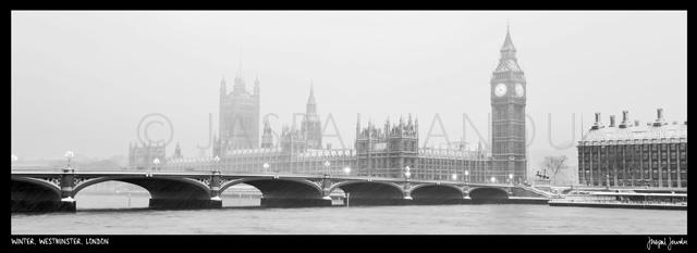 Winter, Westminster, London
